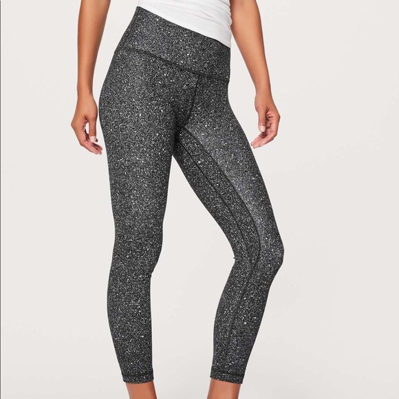 3d3730412fdd1 lululemon athletica Pants | Lululemon Align Pant Blackwhite Speckled ...
